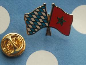 Freundschaftspin-Bayern-Marocco-Pin-Button-Badge