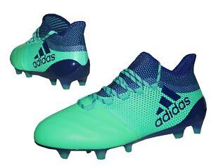 Details Zu Adidas X 17 1 Leather Fg Herren Leder Fussballschuhe Nocken Cp9157 Grun Blau Sale