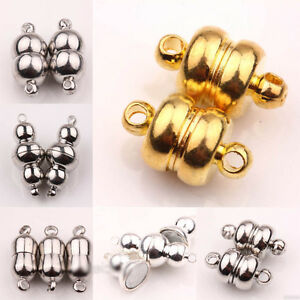 5//10 Sets Silver//Gold Plated Round Strong Magnetic Clasps Hooks Jewelry Findings