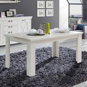 esstisch kashmir tisch esszimmertisch in pinie wei ausziehbar 160 205 5904767110406 ebay. Black Bedroom Furniture Sets. Home Design Ideas