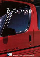 Prospekt D+GB Pontiac Trans Sport 1991 Autoprospekt Broschüre brochure Auto Pkw