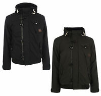 New Brave Soul Mens Padded Warm Hooded Jacket M L XL Black Charcoal Winter Coat