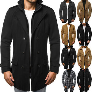 Wintermantel Mantel Winterjacke Übergangs Jacke Coat Herren OZONEE 8417 MIX