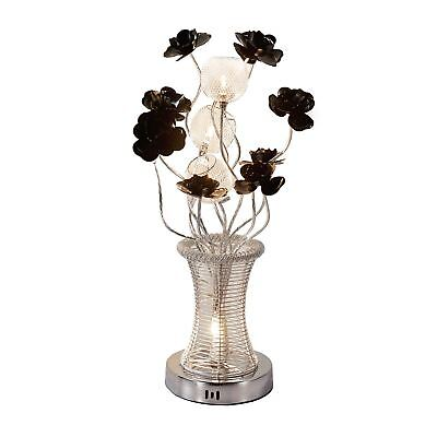 LED Silver Aluminium Artificial Flower