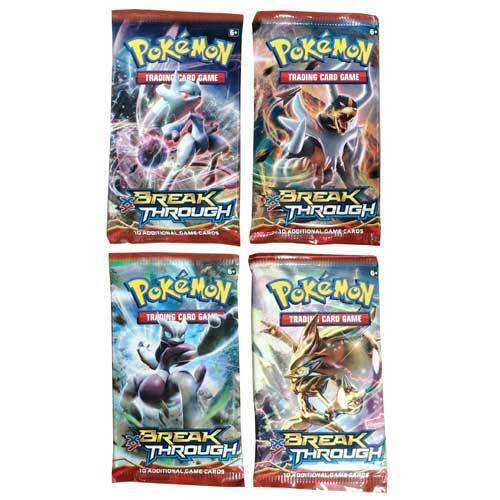 POKEMON TCG XY BREAK Through Booster x 4 Packets NEW trading card breakthrough