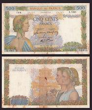 FRANCE FRANCIA 500 francs paix 1942 CONDIZIONI CIRCOLATA MA ANCORA DISCRETA