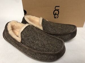 eb3d25c78ab Details about UGG ASCOT TWEED STOUT SHEEPSKIN SLIPPERS MOCCASINS SHOES SIZE  US 8 MENS 1005347