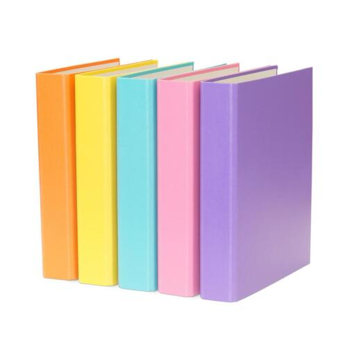 je 4x gelb türkis,pink und orange 2-Ring Ordner 20x Ringbuch lila DIN A5