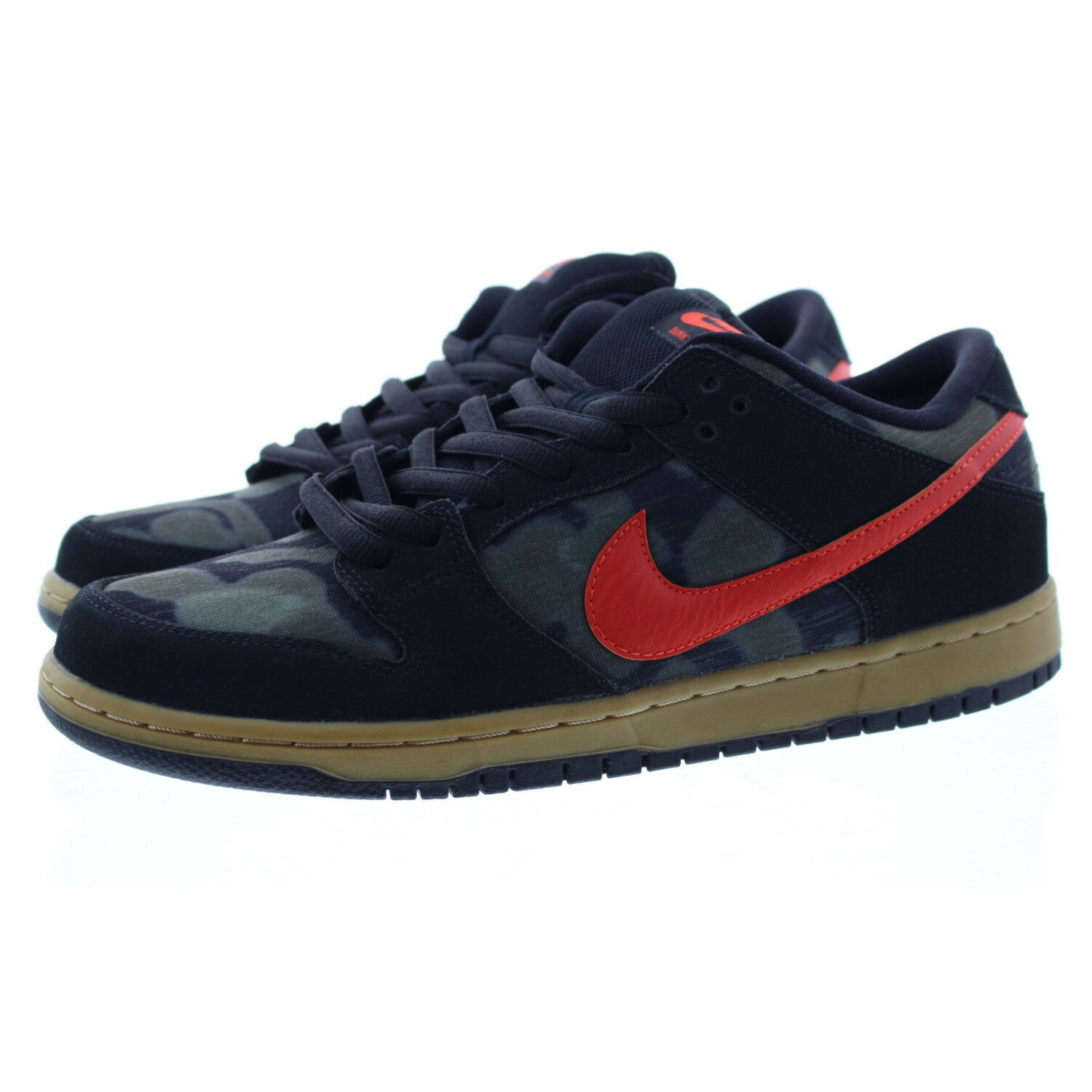 Nike 313170 Men's Dunk Low Top Premium Skateboarding Shoes Sneakers, Camo