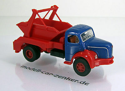 Brekina 85393 Berliet GLR 8 Absetzkipper enzianblau rot Scale 1 87 NEU OVP