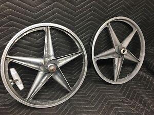 Old School BMX - APSE 5-Star Aluminum Mag Wheel set Pair