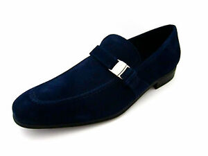 9d9cd7282f5 Salvatore Ferragamo Pinot Mens Suede Loafers Shoes 8 D(M) US Made in ...