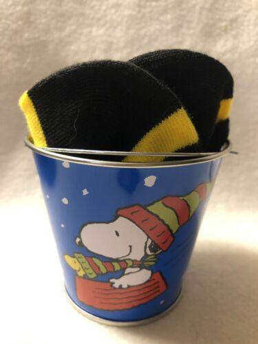 Charlie Brown Christmas  Ankle Socks  Miniature Christmas Bucket Gift Snoopy