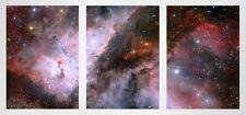 Space Carina Nebula Wolf Rayet Star 3 Panel Large Triptych Wall Art Print Poster