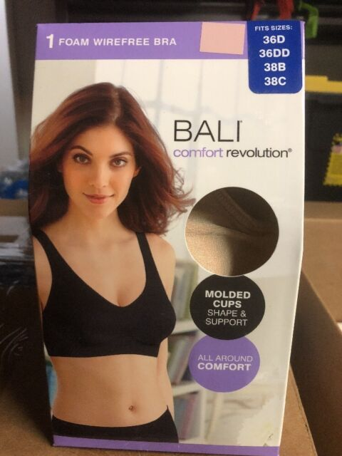 3f14e1c5d5e4f NWT Women s Bali Wirefree Foam Bra Comfort Flex Fit Molded Cups Nude New