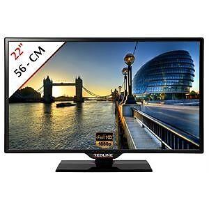 t l vision 56 cm tv led ecran lcd moniteur pc full hd. Black Bedroom Furniture Sets. Home Design Ideas