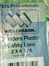 Vintage Weldmark Welders Plastic Cover Safety Lens In Package 2 X 4 14