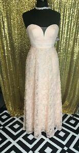 NWT-Aidan-Mattox-Womens-Pink-Rose-Corsage-Strapless-Evening-Prom-Dress-Gown-2