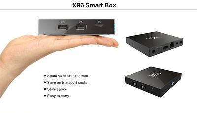 X96 TV Box Android Amlogic S905X Quad Core WiFi HD 1G/2G/3G 8G/16G/32G 4K Player