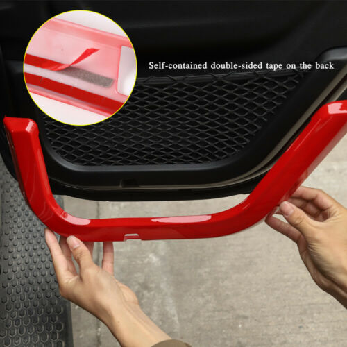 4-Dr ABS Car Door Storage Net Frame Cover Decor Trim Fit Jeep Wrangler JL 2018