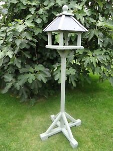 Bird Table Belfry Style House Wooden Natural Slate Roof