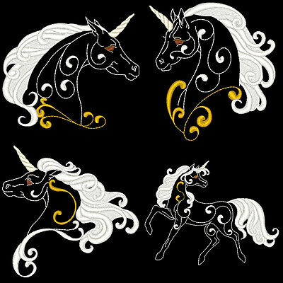 FANTASY UNICORNS -  20 MACHINE EMBROIDERY DESIGNS (AZEB)