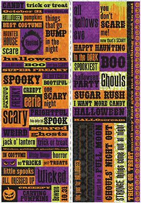 Reminisce HALLOWEEN HAUNTED QUOTE Stickers Scrapbooking Cardmaking