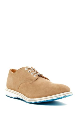 Men's WALK OVER Taupe Suede, Almond Toe Lace Up Sh
