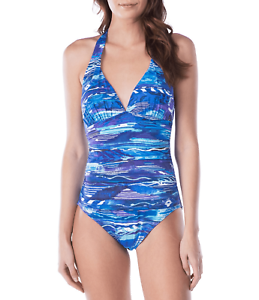 71b4265caa558 Ralph Lauren Calypso Slimming Fit Halter One-Piece Swimsuit size 12 ...