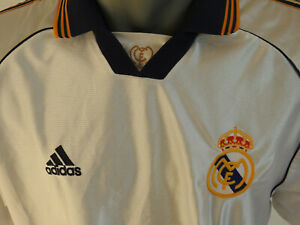promo code 361d2 973e2 Details about Real Madrid 1998 - 2000 Home Jersey Adidas Shirt Size L  Football White kit
