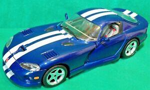 Burago-1-18-1996-American-Dodge-Viper-GTS-SRII-USA-V10-Muscle-Car-Sports-Model