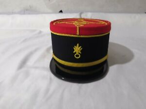 French-Military-Kepi-France-Army-Embroidery-Cap-Officer-Peak-Embroidered-Hat