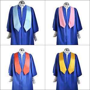 Set 10 Royal Blue Choir Robes/Gowns & Sashes/Stoles Women/Men ...