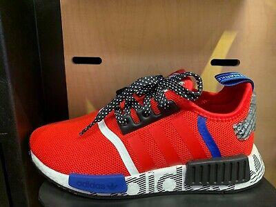 Adidas Nmd R1 Transmission Pack Red Black Blue Gs Men Sz 4y 13 New