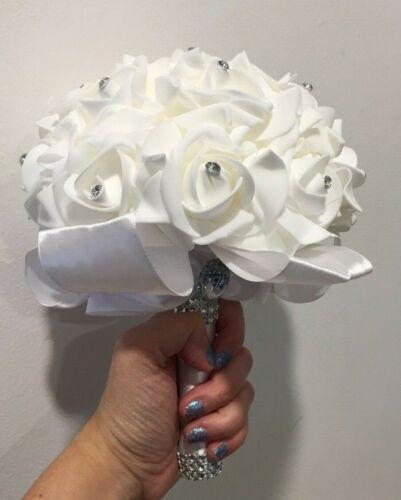 White Romantic Wedding bouquet Bride bridesmaid
