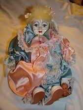 Handmade German Tati Porcelain Clown Doll By Gerhard Dargel NWT