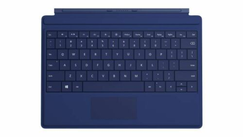 Genuine Microsoft Surface 3 Type Cover Keyboard with Backlit Black Cyan Blue Red