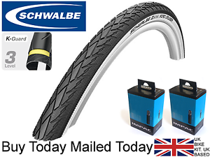 Schwalbe Road Cruiser 24 x 1.75 47-507 White Wall AntiPuncture Bike Cycle Tyre