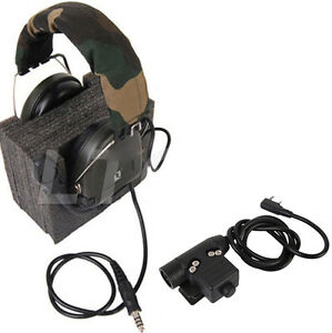 U94-PTT-Z-Tactical-For-TYT-KENWOOD-F8-BAOFENG-5R-RADIO-Military-Adapter