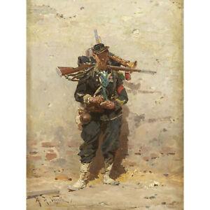 Alphonse-De-Neuville-Bugler-Light-Infantry-1876-Painting-XL-Wall-Art-Canvas-Prin