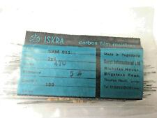 100x Iskra UPM 050 3.9K ohm Carbon Film Resistors 5/% resistor 1//2 watt 3K9Ω