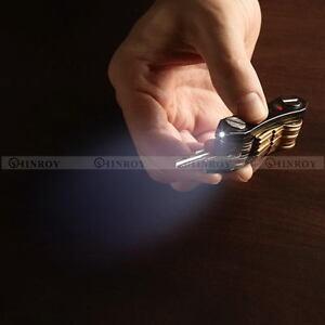Aluminum-LED-Key-Holder-Organizer-Portable-Keyring-Keychain-EDC-Pocket-Tool