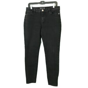 Elle-Womens-High-Rise-Skinny-Ankle-Jeans-Sz-10-Black-Stretch