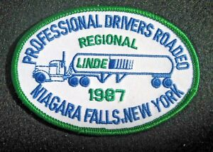LINDE-PROFESSIONAL-DRIVERS-1987-PATCH-NIAGARA-FALLS-TRUCK-4-034-x-2-1-2-034