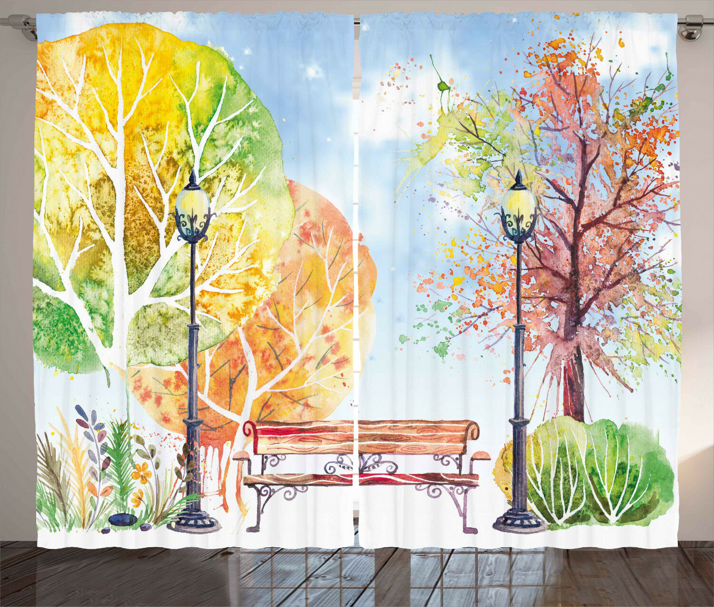 Vintage Bohemian Curtains 2 Panel Set Decoration Decoration Decoration 5 Größes Window Drapes Ambesonne 028777