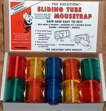 The Sliding Tube Mousetrap , Novel idea! as Featured on Youtube! Box of 10 Traps