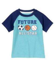 NWT Boy/'s Gymboree Monstro-politan all-star ball shirt ~ 12 18 24 months 2T 4T