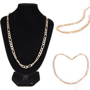 Fashion-18K-Gold-Plated-Men-039-s-Punk-Chain-Necklace-Women-Long-Necklace-Jewelry-OZ