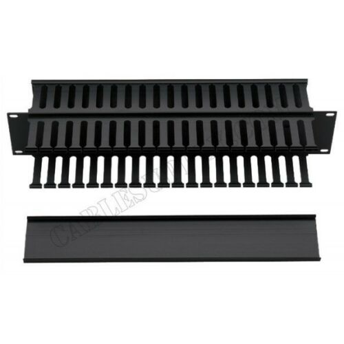 2U AMP NETCONNECT rack cable management tray horizontal, double sided