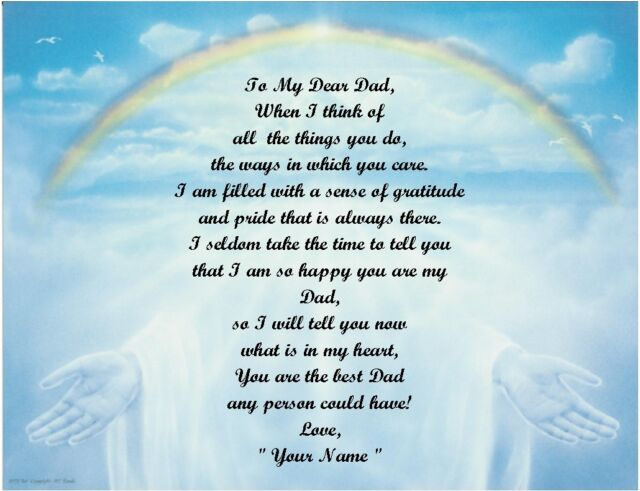 ChristmasBirthday Gift For DadDaddyFather Personalized Poem Rainbow Hands Sale Online